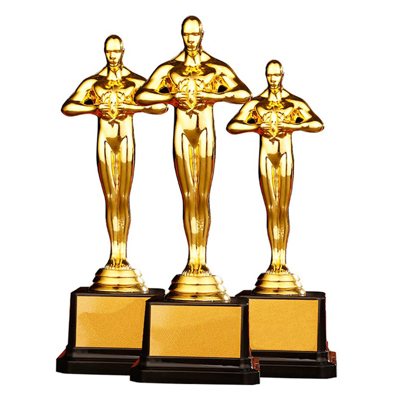 Customize Academy Award PC Oscar Trophy Gold Plated Little Golden Man Team Sports Competition Craft Souvenir Gifts 4 Sizes