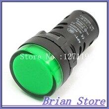 Electrical Circuit Green LED Signal Indicator Light AC 380V 20mA