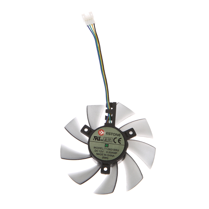 DIY T129215SU Graphics Card 4Pin Cooling Fan For ASUS GTX 460 Gigabyte GTX 1060