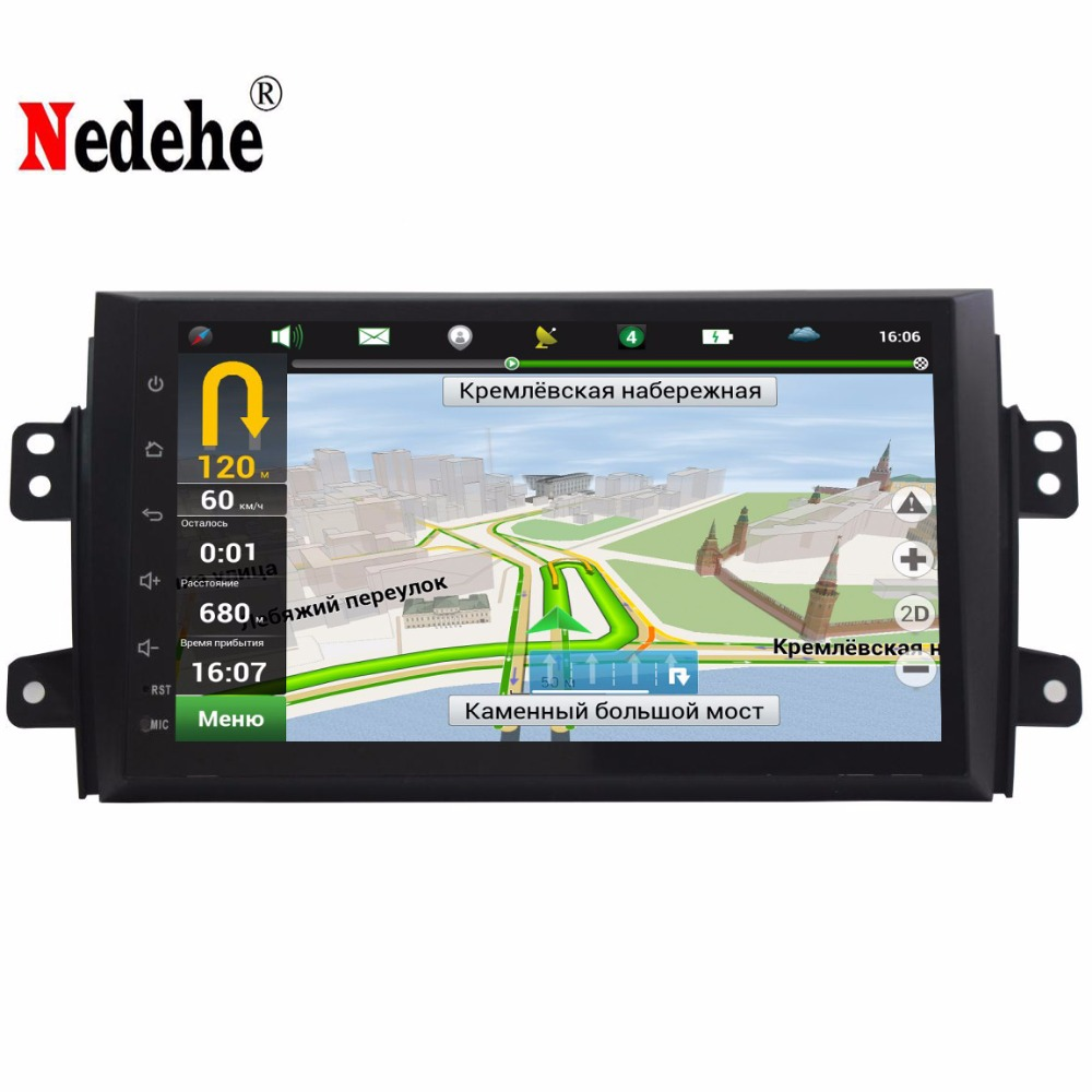 9 inch 1024*600 Quad Core Android 7.0 For SUZUKI SX4 2006 2007 2008 2009