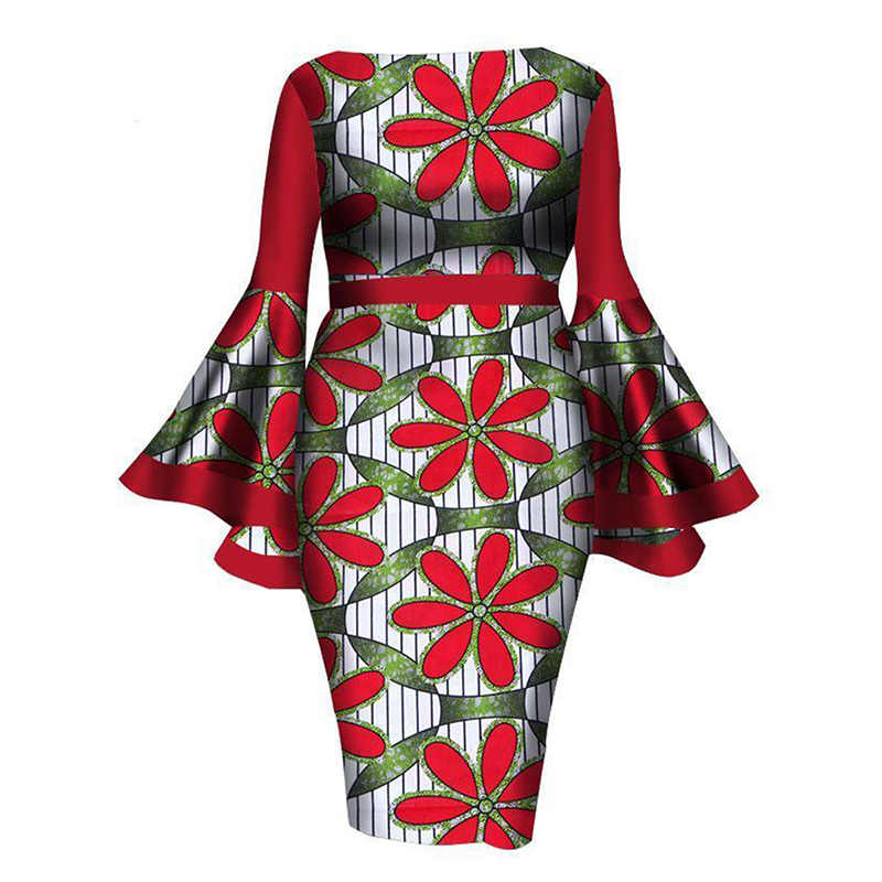 9d5022652517e Evening Party Women Spring Summer Vintage Daisy Floral Ruffle Red Bodycon  Dress African Work Wear Plus Size Date Skinny Dresses