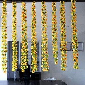 Image 2 - Artificial flowers vine simulation flower cane Sunflower cane Sunflower rattan  home flowers decoration wholesale