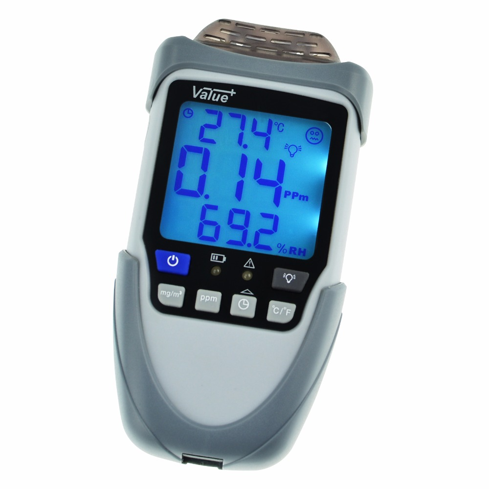 Digital Handheld Formaldehyde HCHO Meter Detector, Measurement in mg/ ppm, Temperature Humidity Monitor, Indoor Air Quality free shipping china hcho ch2o formaldehyde monitor environmental with temperature humidity
