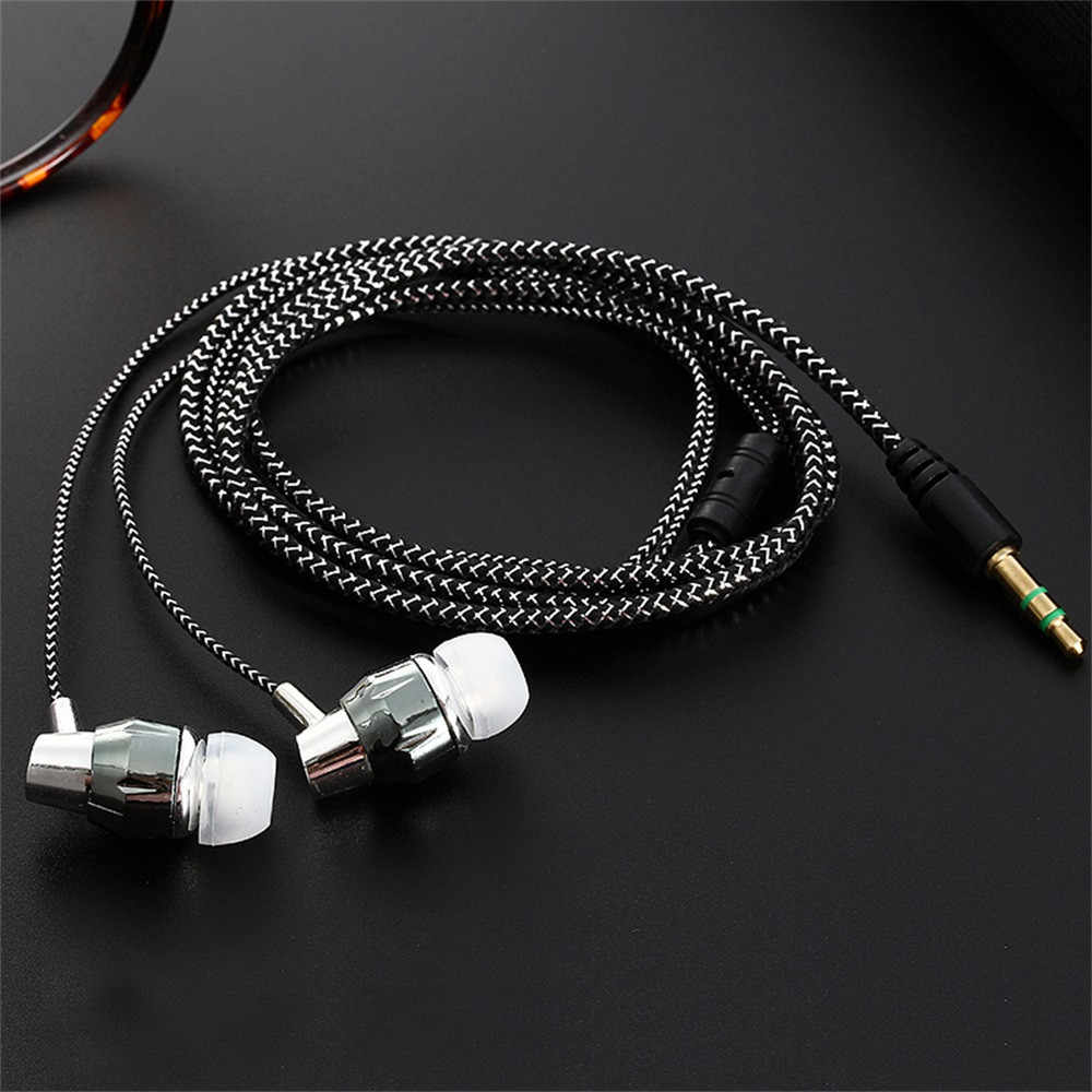 Universal 3.5 Mm Stereo In-Ear Earbud Earphone untuk Ponsel Kabel Earphone