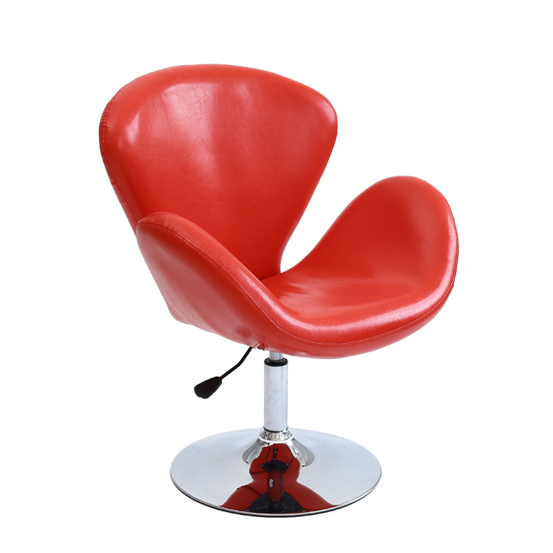 Creative PU Leisure Chair Lifted Rotated Household Living Room Chair Multi-function Office Staff Meeting Chair Stable Bar Stool simple style lifted office chair staff meeting stool multi function household rotated swivel chair leisure gaming computer chair