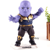 Avengers Infinity War Thanos Marvel Action Figure Beast Kingdom Egg Attack Action EAA 059 PVC Collection Model Toys for Boys