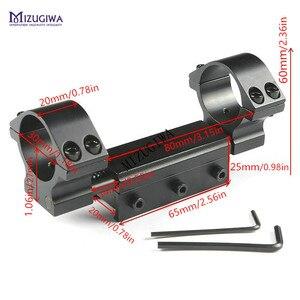 """Image 2 - Montagem flexível do escopo do rifle 25.4mm 1 """" / 30mm anel adaptador superior liso com pino de parada 20mm/ 11mm picatiiny ferroviário tecelão de encadernação nenhum logotipo"""