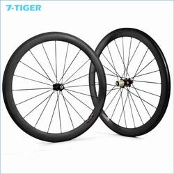 7 tygrys chiński droga węgla koła koło rowerowe tłuszczu rower 50mm Clincher felgi koła z piastą novatec 50mm clincher carbon road wheelsroad wheels -