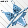 OMKAGI Bikini Swimwear Swimsuit Bathing Suit Sexy Bikinis Set Women Push Up Maillot De Bain Femme