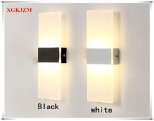 XGKJZM Acrylic Rectangle Lamp AC85V-265V LED Light Wall Lamp Room Living Room Balcony Corridor Bedside Wall Lamp Washer Li(China)