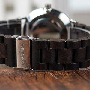 Image 5 - Bobo pássaro relógios de madeira dos homens relógios moda pulseira de madeira relógio de quartzo presentes ideais artigos com * q23 transporte da gota