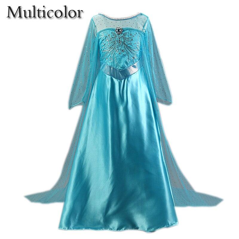 836e490371 Niestandardowe już Elsa dzieci dziewczyny księżniczka dzieci Dress Party  Fantasia Vestidos niemowląt sukienka lato Anna dziecięce