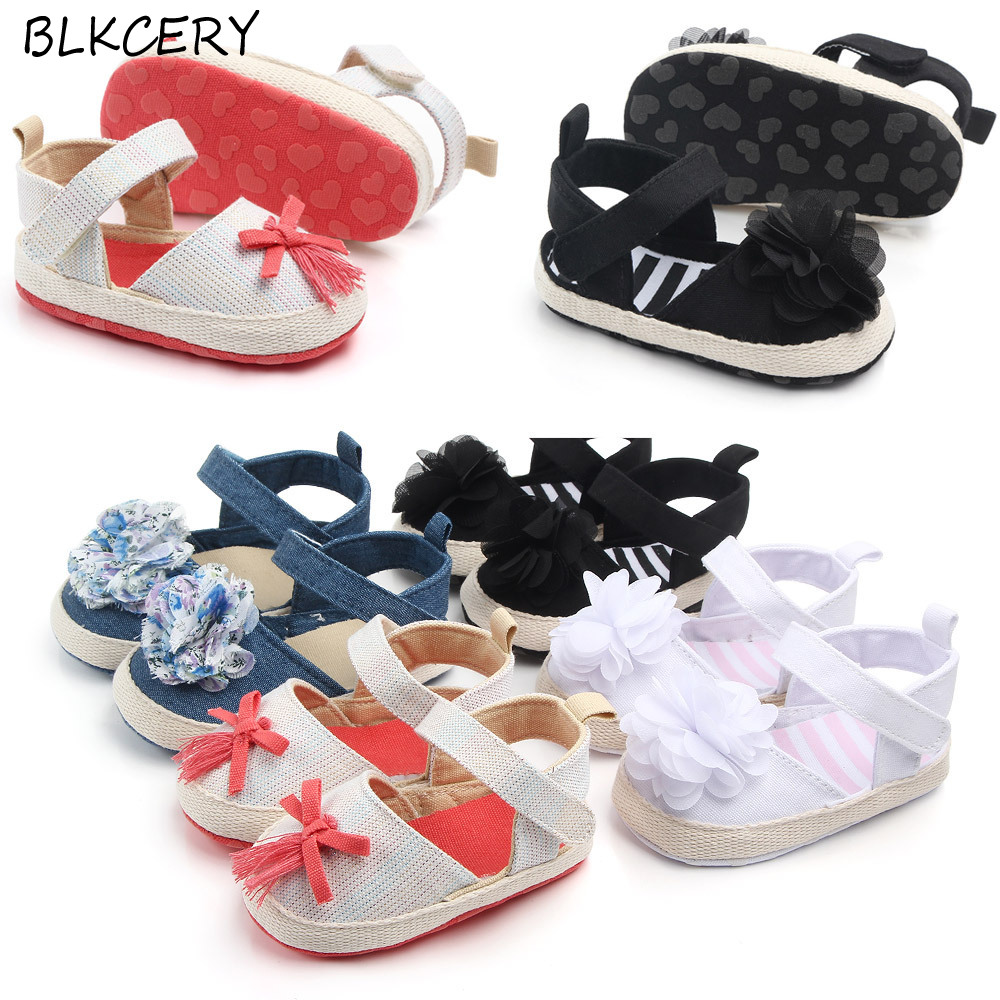 Girls Sandals Flats Shoes Walker Baby Kids Toddler Infant Soft Shoes Slippers
