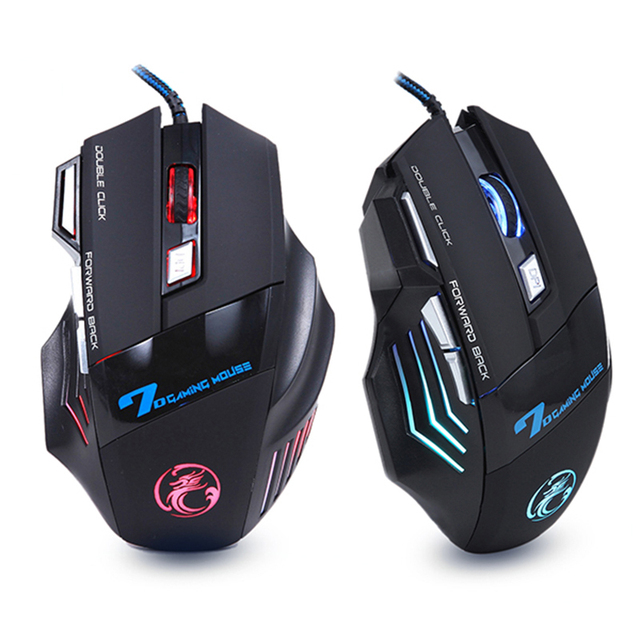 7 Buttons 5500 DPI Professional Gaming Mouse+Heavy Bass 4