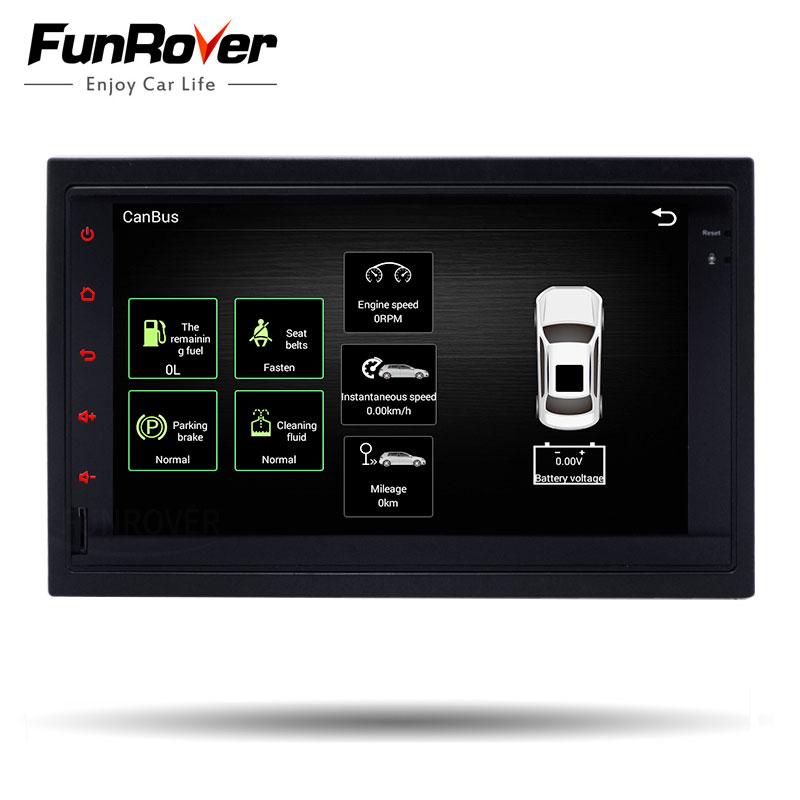 FUNROVER android 6.0 2 din volkswagen Car dvd GPS Navigation For vw Passat Golf 4 Polo Bora Jetta Sharan 2001 2002 2003 2004