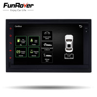 FUNROVER android 6.0 2 din volkswagen Car dvd GPS Navigation For vw Passat Golf 4 Polo Bora Jetta Sharan 2001 2002 2003 2004