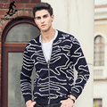 Pioneer Camp men sweater brand clothing high quality Hip hop street wear new fashion male striped cardigans sweaters for 611214