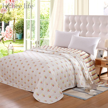 Lychee 1pc Ice Cream Pattern Towel Blanket for Bed Bath Sofa Travel Use Soft Children Blanket Towel Home Textile 90x100cm