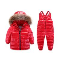 winter 2018 children clothing duck down coats for kids clothes girls clothing long parka snowsuits + overalls clothes sets boys
