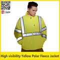 Segurança de alta visibilidade reflexiva flourecent polar fleece jaqueta jaqueta de trabalho dos homens de segurança jaqueta