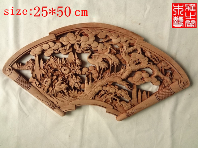 Large size chinese style wood carving handicrafts camphor wood