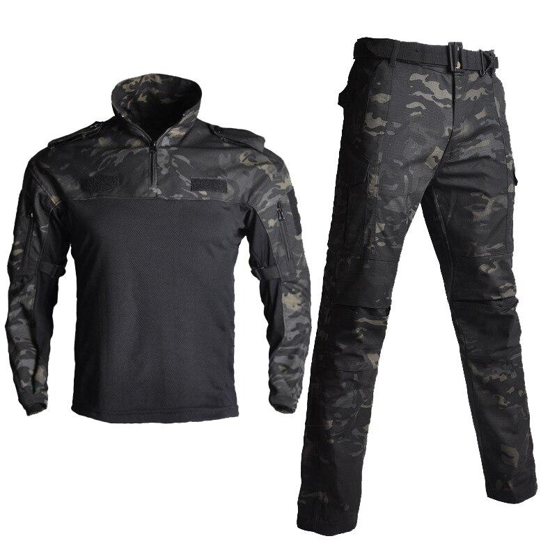 Men's Sets Cotton Military Uniform Shirt Men Army Pants Airsoft Paintball Tactical Shirts Suit Camo Training Clothes Men's Pant - 4