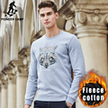 Pioneer Camp autumn winter fleece thick men hoodies sweatshirt top quality brand hoodies men casual male warm sweatshirt 677209
