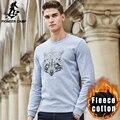 Pioneer camp outono inverno homens de lã grossa camisola hoodies hoodies marca de qualidade superior homens casual masculino camisola morna 677209