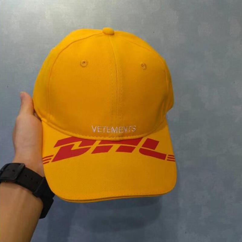 2018 New Vetements Hat Men Women Summer Orange DHL Vetements Baseball Cap  Casual Hip Hop Adjustable Embroidery Vetements Caps-in Baseball Caps from  Apparel ... 07e5e81c8dc