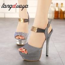 strap high heels platform women shoes high heel sandals