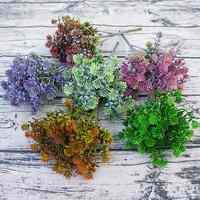 7 tenedores 28 cabezas rama plantas suculentas hojas artificiales de otoño Flores DIY Artificial decoración de boda Planta Flores falsas