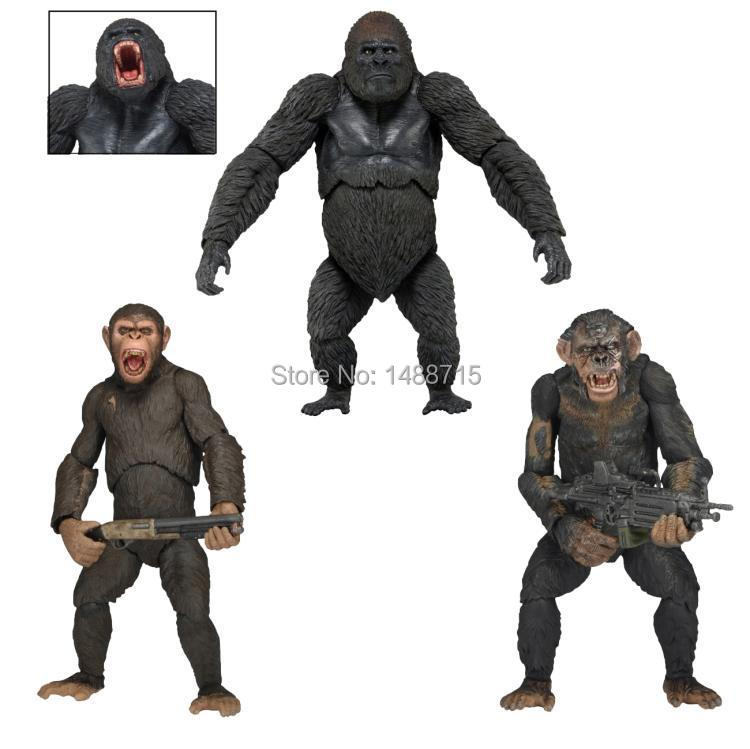 Hot  Dawn of the Planet of the Apes Caesar Luca Koba Sci-Fi Film NECA Ver.2 Action Figure Toys 18CM New BoxHot  Dawn of the Planet of the Apes Caesar Luca Koba Sci-Fi Film NECA Ver.2 Action Figure Toys 18CM New Box