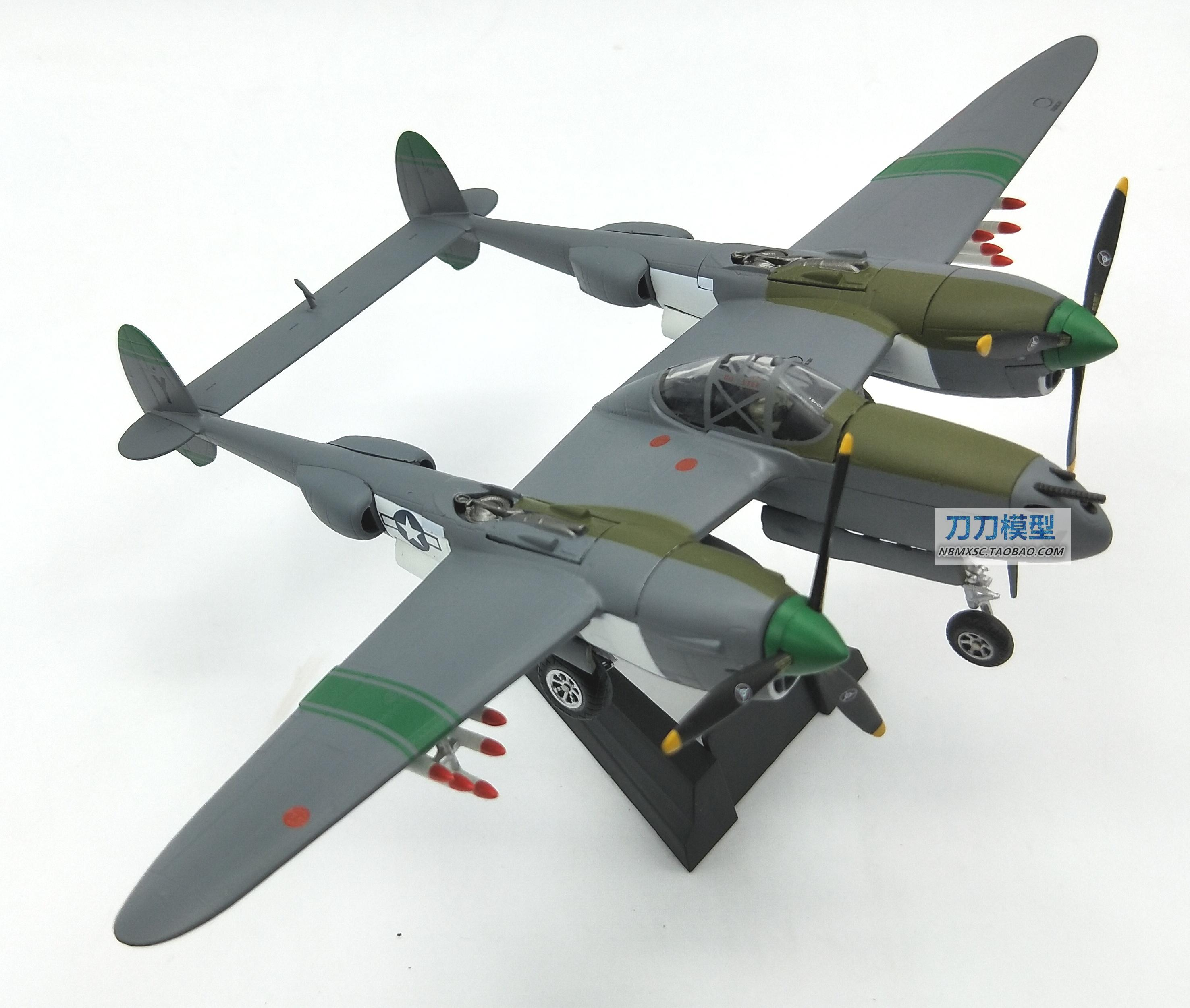 RIAN DAY 1/72 Scale Military Model Toys Word War II P38 P-38 Lighting Fighter Diecast Metal Plane Model Toy For Collection/Gift brand new terebo 1 72 scale fighter model toys russia su 34 su34 flanker combat aircraft kids diecast metal plane model toy