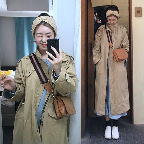 Straight Long   Trench   Coats With Pockets Especially Female Oversized Korean Fashion Blusão Feminino Women Coats Long Windbreaker