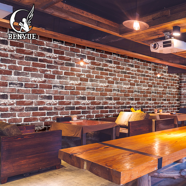 Suppliers High Quality 3d Brick Wallpaper Stone Wall Paper Faux
