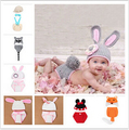 18 cores infantil cute baby malha clothing set vetements traje do coelho de crochê fotografia bebê recém-nascido chapéus bonés 0-12 mês