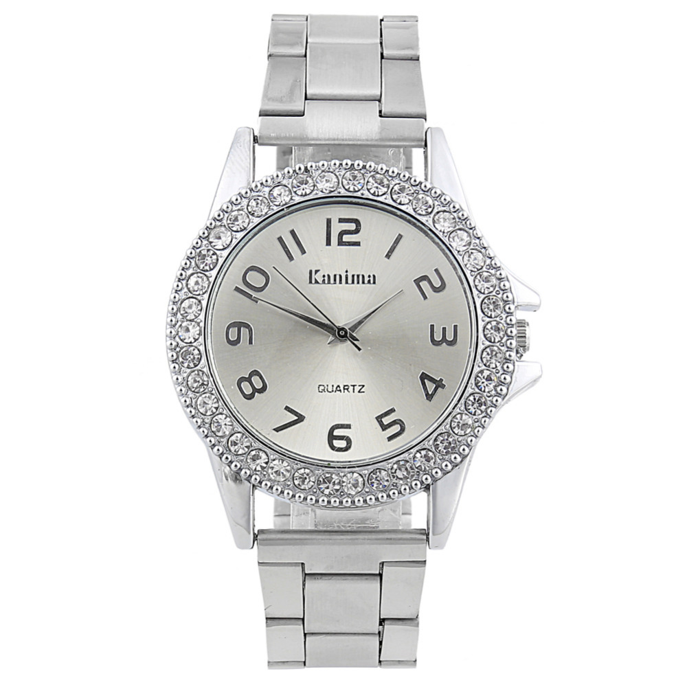 New Fashion Classic Women Watch Luxury Crystal Stainless ...