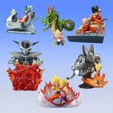 6pcs lot Original mini Japanese classic anime figure Dragon ball HG scense PART1 action figure set