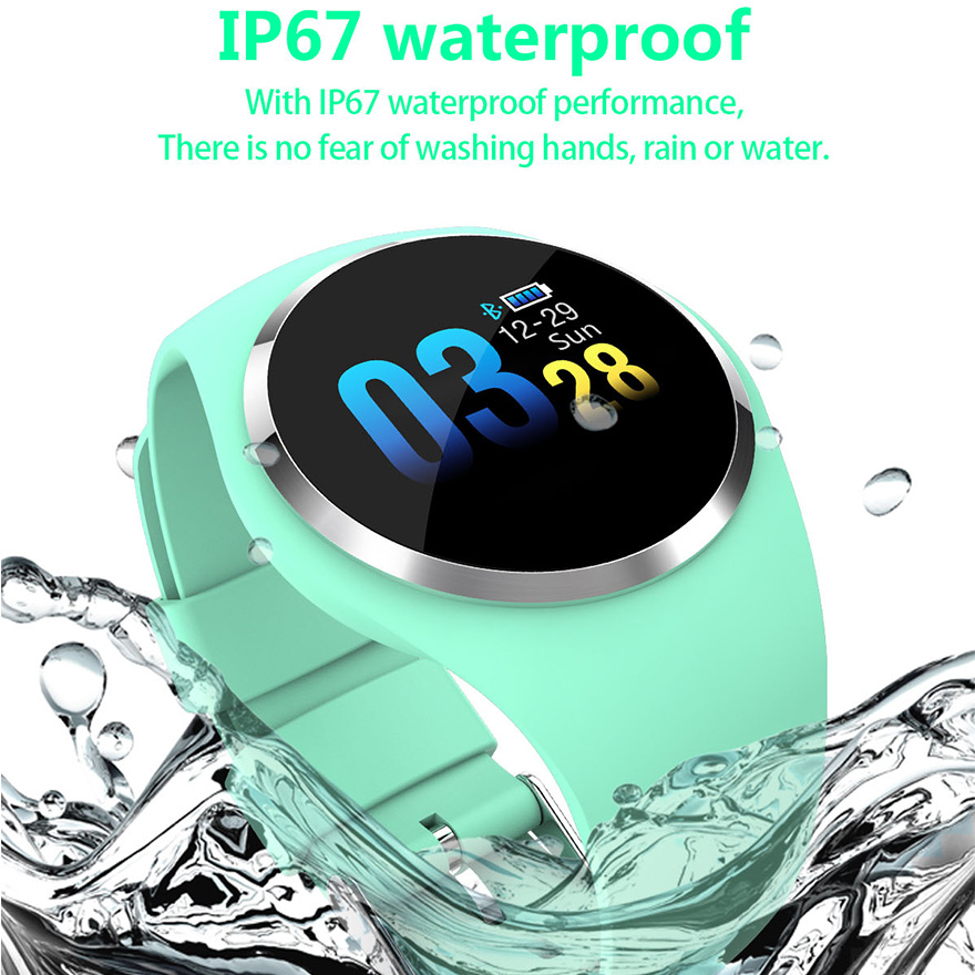Bluetooth 4.0 Smart Watch Waterproof Round Q1 Passometer Monitor Heart Rate Clock Reminder Smartwatch Women Men for IOS Android