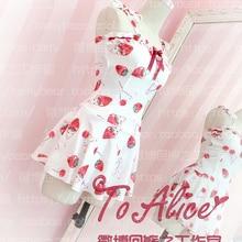 cacc7b5cc1 SUKUMIZU Cute Cherry Rabbit Women's Slim Fit Lolita Swimwear Swimsuit Hot  Spring Kawaii(China)