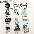 2017 Fashion Modern girl pattern brooches collar shirts letters brooch pin collar women/men/unisex Jewelry