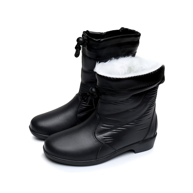 ce7a4ce6e524a LAKESHI 2018 New Women Boots Female Down Winter Boots Waterproof Warm Fur Snow  Boots Womens mid