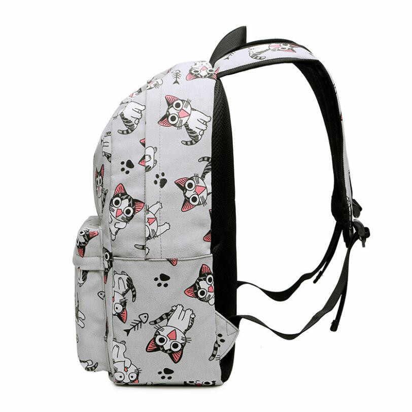 8d16375723d2 ... FengDong school bags for teenage girls schoolbag children backpacks  cute animal print canvas school backpack kids ...