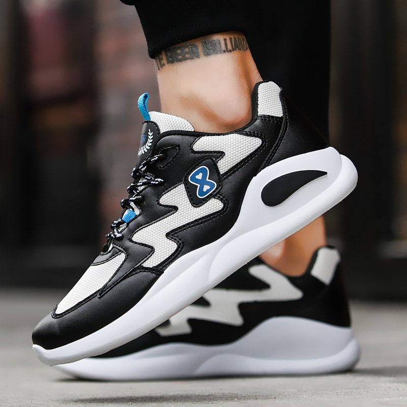 New Hot Style Men Running Shoes Lace Up Athletic Shoes Outdoor Camping Trekking Walking Jogging Shoes Comfortable Men Sneakers