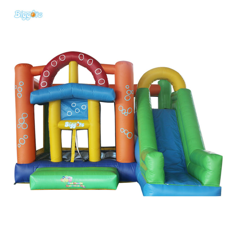 Colorful Inflatable Bouncy House With Slide For Children Jumping family use inflatable toys for children play inflatable playground with bouncy and slide