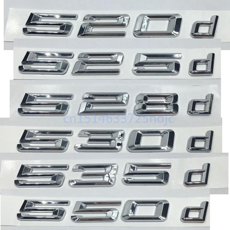 цена на 2017 New 520d 525d 528d 530d 535d 550d Rear Boot Trunk Lid Letters Badge Emblem Logo for BMW 5 series E39 E60 E61 F10 F11