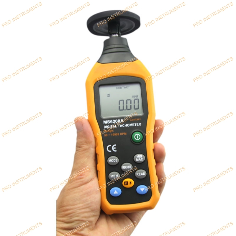 cheap handheld contact tachometer digital with MAX/MIN/AVG Functions MS6208A