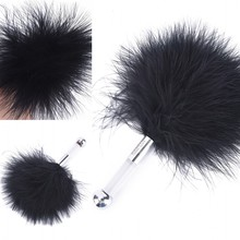 Black Bird Feather Clit Spanking Flirting Tickler Whip Flirt Soft Slave Flogger For Women Party Erotic Toy Sex Products For Male
