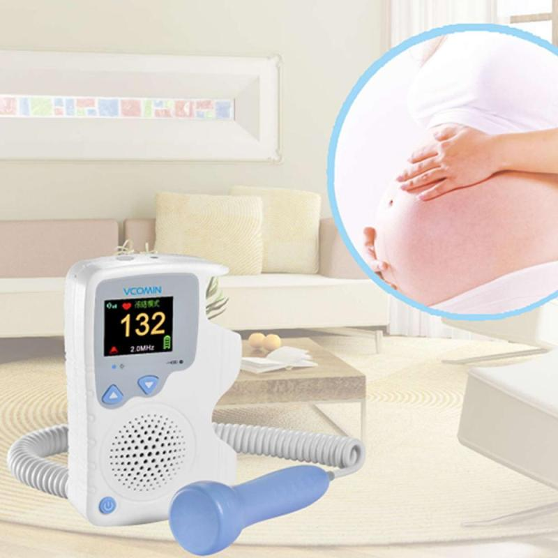 Fetal Doppler Detector LCD Portable Ultrasound Baby Doppler Heart Rate Monitor Pregnant Gel Vascular Doppler Sensor U2 doppler doppler 7441465pr brown