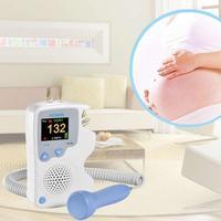 Fetal Doppler Detector LCD Portable Ultrasound Baby Doppler Heart Rate Monitor Pregnant Gel Vascular Doppler Sensor U2